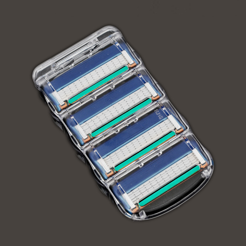 Onei Brand 4pcs/lot Razor Blade For Men Shaving Blades Safety Blades Cassette Shaver Suit For Gillettee Fusion Proglide