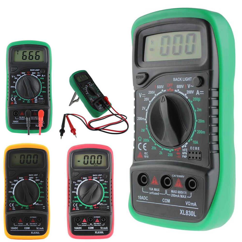 Detail Feedback Questions About Xl830l Portable Digital Multimeter Wiring Voltmeter Ammeter Aneng Lcd Ac Dc Ohm Volt Tester Test Current