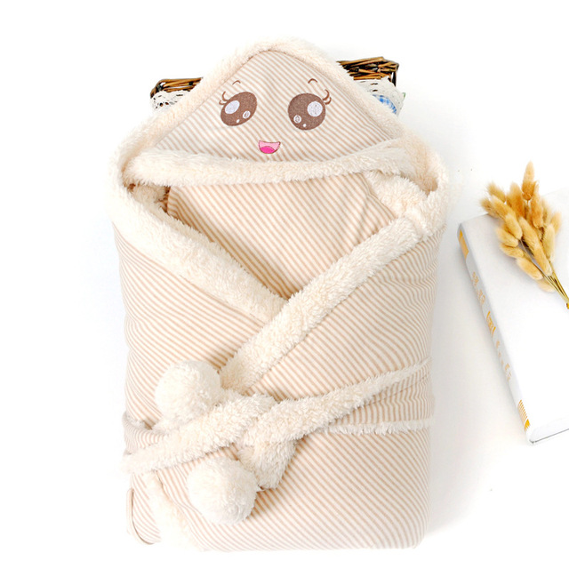 Ребенка ягненка держал хлопка с покрытием хлопок ребенка раннего новорожденных зимние одеяла спальный мешок детей ^ AK85