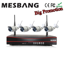 Cheap 720P Wireless IP Camera System Wifi IP Camera Kits Security Camera System Wireless  build in 1TB HDD 4ch nvr kit