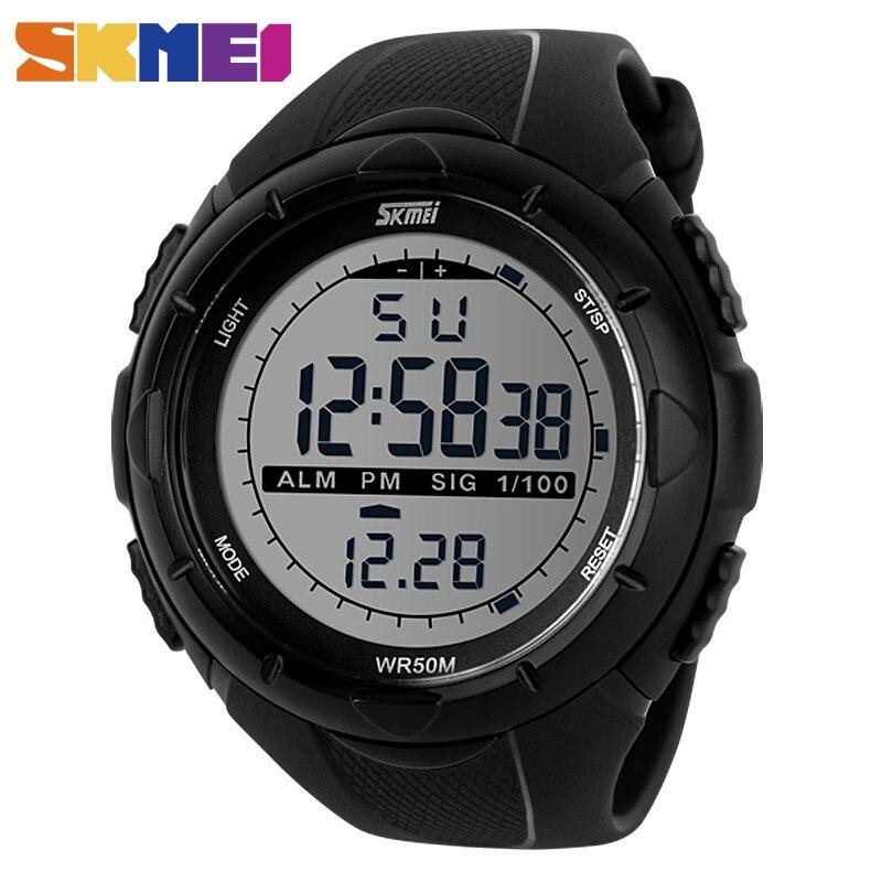 SKMEI 1025 Men Sport LED Digital Watch Military 50M Dive Wristwatch Relogio Masculino Role Watch Mens