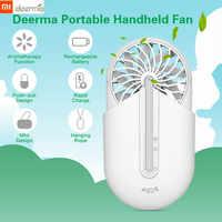 Original Xiaomi Deerma Handheld Portable Fan Ventilador with Aromatherapy Ultra Quiet Air Hanging Fan Xiaomi Fan Fast Charge
