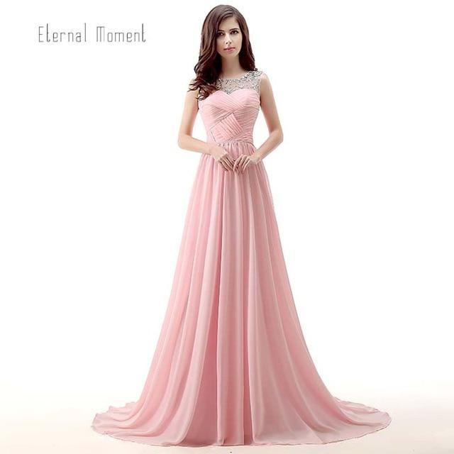 Rosa Vestido de Fiesta Más El Tamaño de Gasa Fuera del Hombro ...