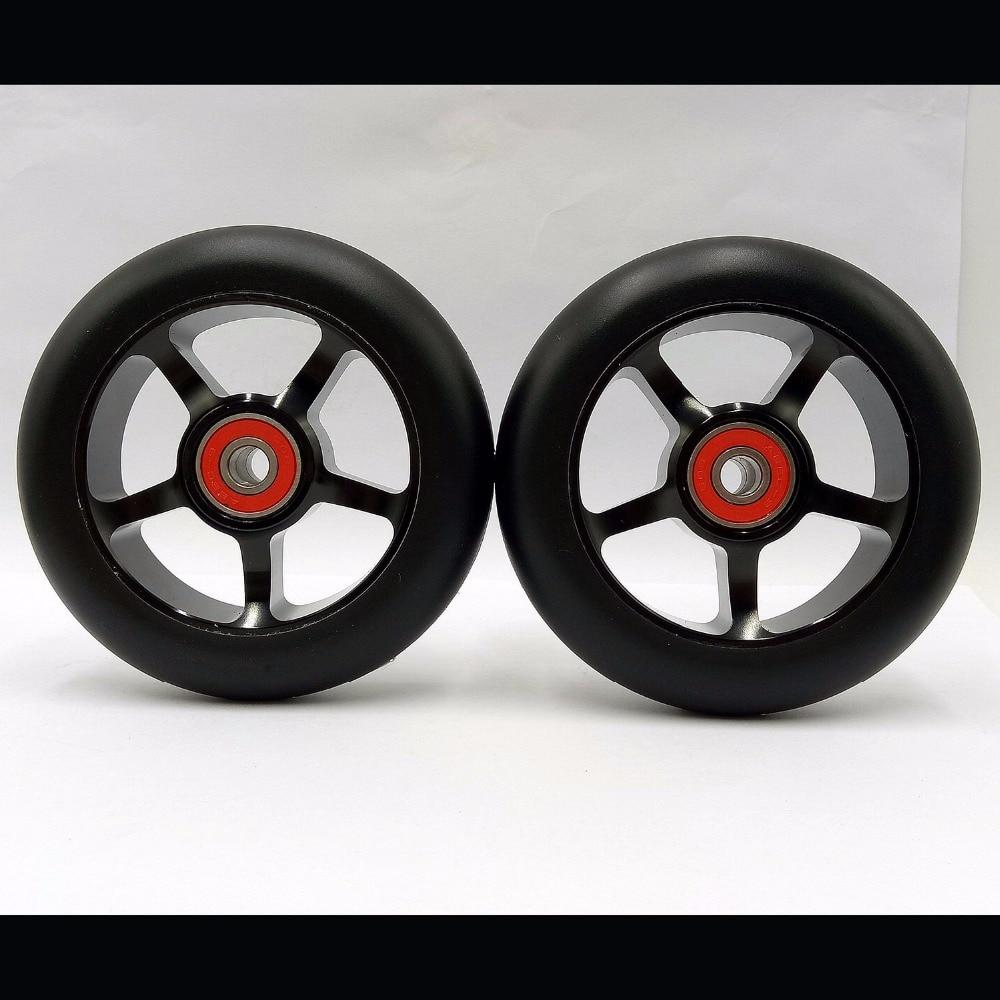 2 Räder Freestyle Stunt Scooter 100mm Räder mit hohen elastischen verschleißfesten PU 608 ABEC-9 Lagern 88A Skirollen