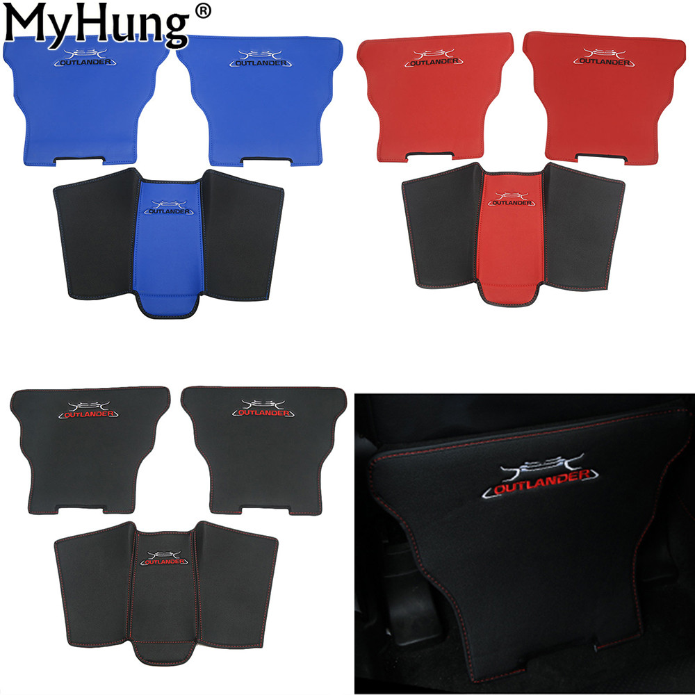 Car Covers Armrests Kick Pad Armrest Protection Mat Cushion Anti-Kick Pad For <font><b>Mitsubishi</b></font> Outlander Sport 2013 To 2018 Auto image