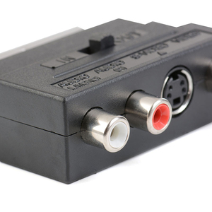 Image 3 - 21pin scart S Video/AV/TV/Audio Adapter Converter For SCART Euro plug in S terminal plus video left and right channel adapter