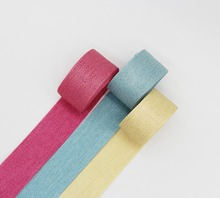 1 Inch  25MM Gold Purl Woven Ribbon Korean Style Tapes Color Satin Grosgrain DIY Wedding Party Decoration Crafts