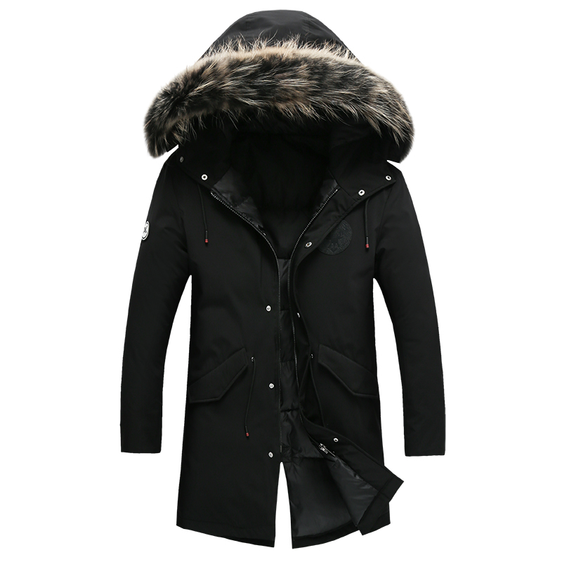 2018 winter Mens casual thicken jackets 90% white duck down down jacket Mens Down Coats trench coat men Parkas size M-3XL