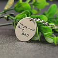 Disc Customized Keychain Solid Silver Engraved Any Words KeyChain Statement Personalized Accesorries Wholesale Christmas Gift