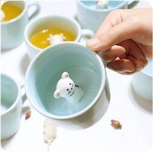3D niedlichen tier in die tasse große sehen marke tasse 12 verschiedene tiere milch saft tasse handgefertigten beste geschenk tassen