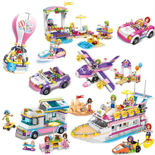 2019 Educational Building Blocks Toy Compatible With legoingly Friends Series Girl Island Travel Car Boat Model  Figures Bricks все цены