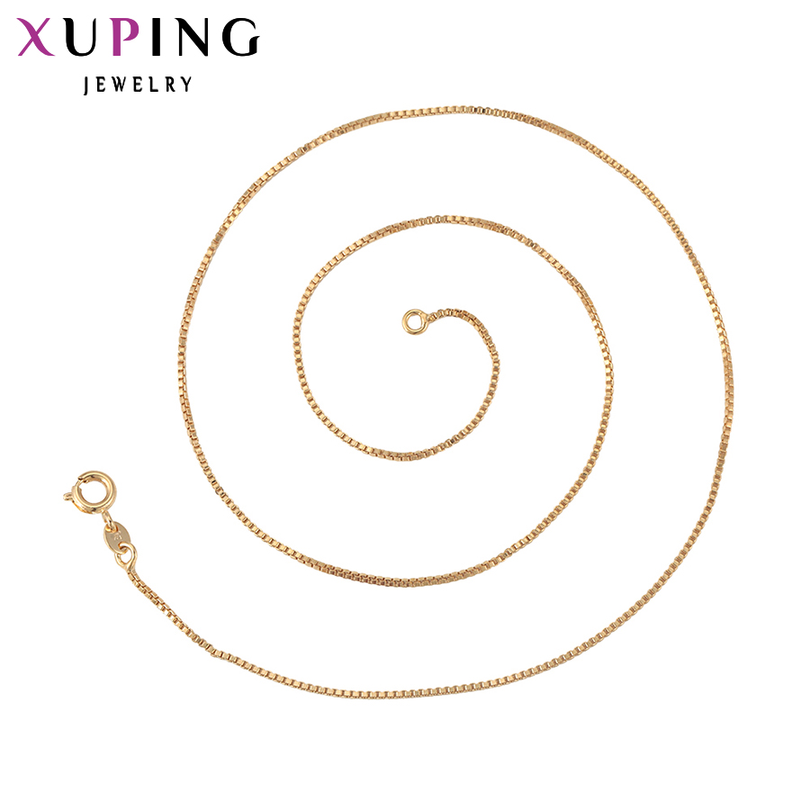 Long Necklace Jewelry Men Chain Xuping Plated Gold-Color New-Design Women S11-42626 Top-Sale