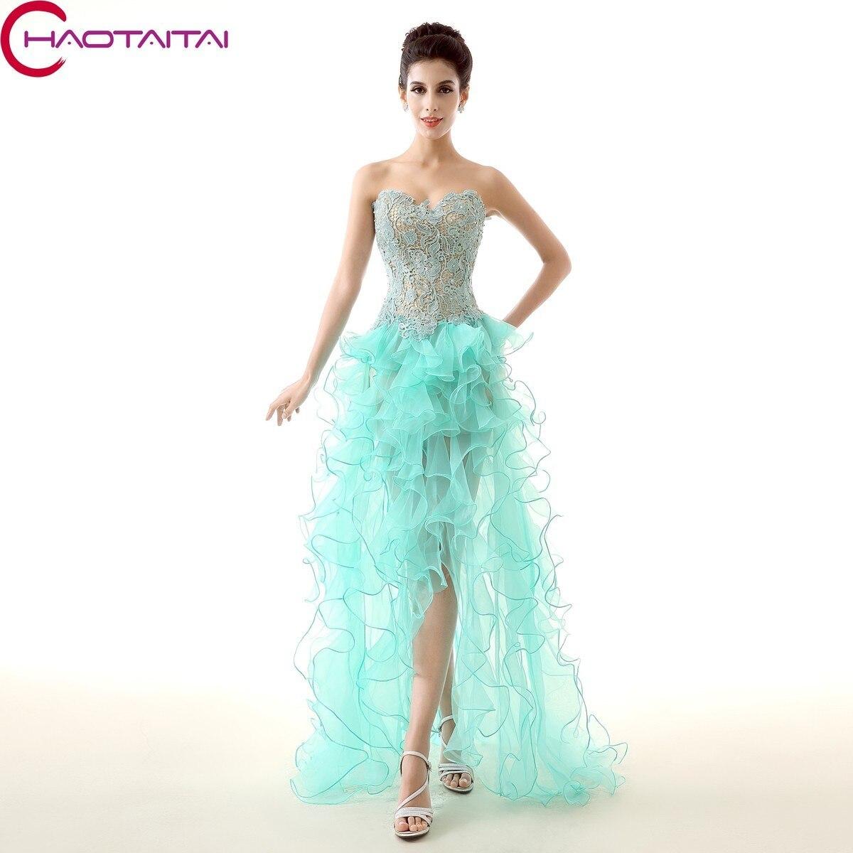 Compra sweetheart sexy vestido asimétrico vestido de fiesta ...