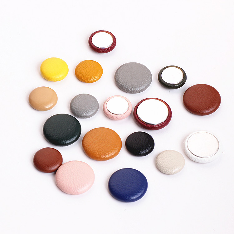 Ritoule DIY handmade jewelry accessories leather round buckle temperament earrings material pendant in Jewelry Findings Components from Jewelry Accessories