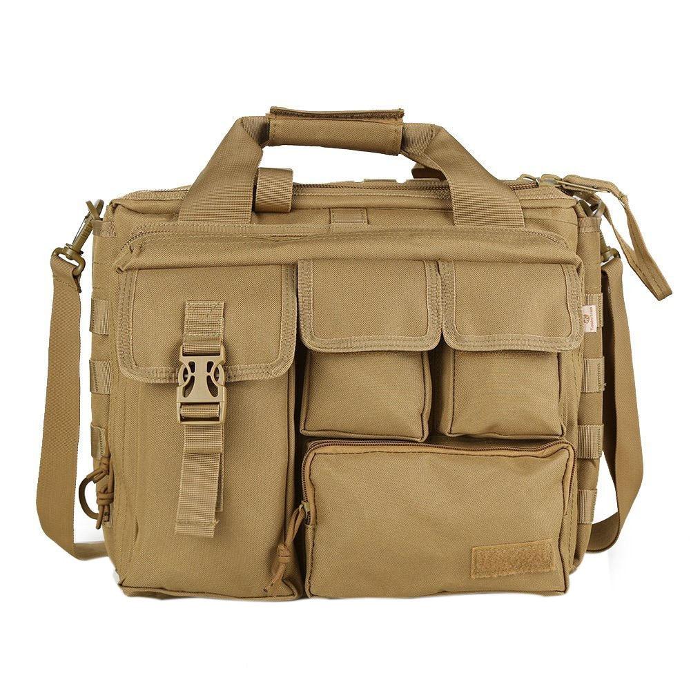 FGGS-Pro- Multifunction Men Military  Travel BaG Nylon Shoulder Messenger Bag Handbags Briefcase Large Enough For 14