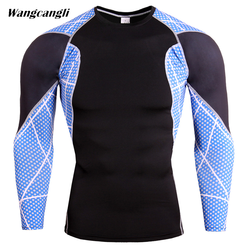 Mens 3D Fitness Wear Tracksuit Mens Compression Shirts Bodybuilding Skin Tight Flower Ar ...