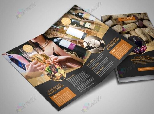 A4 Werbung Flyer Halb Falten (2 Panel) Förderung Broschüre in A4 ...