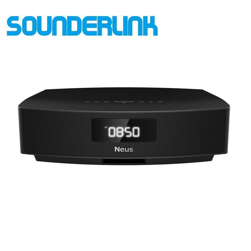 Sounderlink Neusound Neus HiFi Bluetooth speakers system soundbar soundbase home theater for bedroom TV with FM alarm Clock