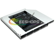 2nd HDD Caddy Second Hard Disk Enclosure DVD Optical Drive Bay for Apple MacBook Pro Core 2 Duo MB166LL/A A1261 2008 Laptop Case