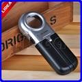 16X 30MM 2 LED Potable Handheld Lupa Lens Jeweler Eye Loupe Illuminated Magnifying Glass Folding Magnifier with Light JJ F-45
