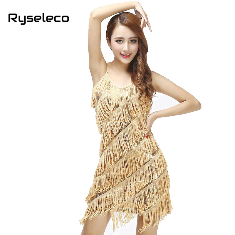 Womens Sexy Vintage Tiered Tassel Fringe Sequin Flapper -1132
