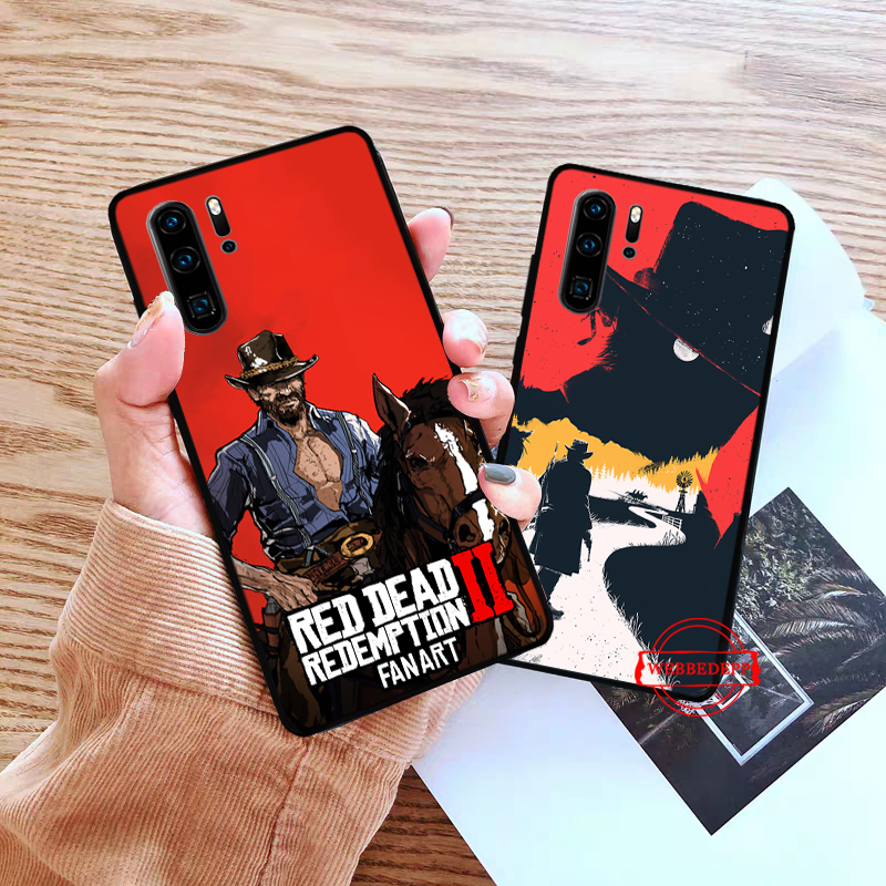 WEBBEDEPP game Red Dead Redemption 2 Silicone Case for Huawei P8 Lite 2015 2017 P9 2016 Mimi P10 P20 Pro P Smart 2019 P30 in Fitted Cases from Cellphones Telecommunications