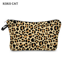 Waterproof Leopard Printing Cosmetic Bag Fashion Women Makeup Ladies Jewelry Pouch Travel Organizer for Toiletries Toiletry Kit