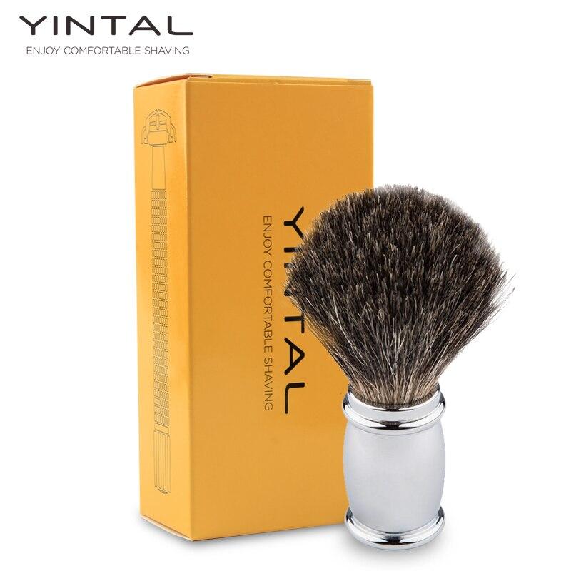 YINTAL Shaving Brush Badger Hair Men Shaving Brush Metal Badger Shaver Brush Brushes