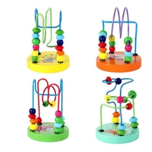 childrens toys baby doll kids Educational toy beads string of game Mini around animal chassis Many styles wholesale