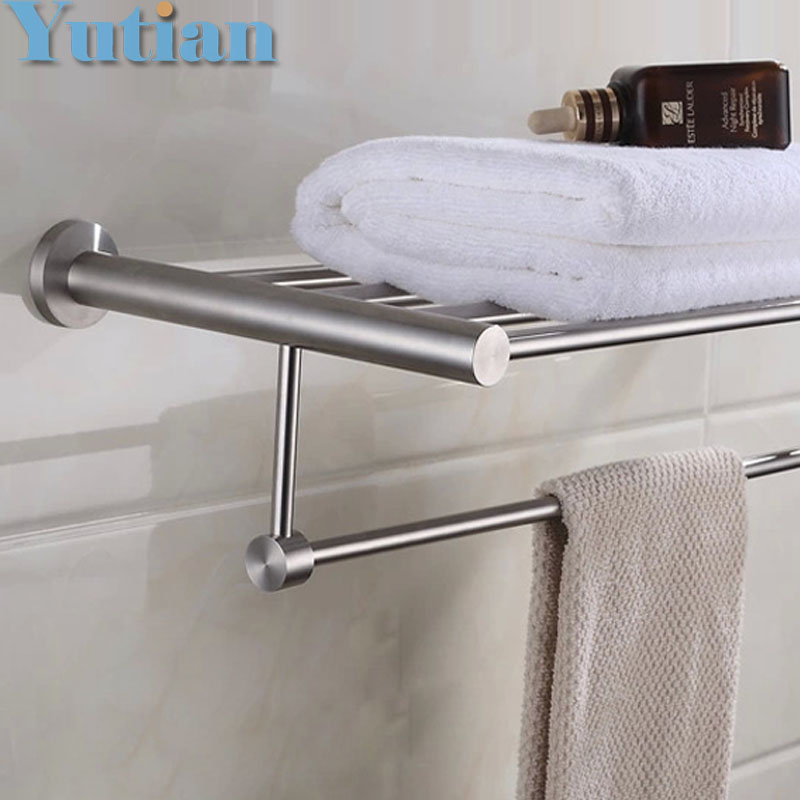 ФОТО FREE SHIPPING, Bathroom towel holder, 304#stainless steel  satin nickel towel rack,60cm round  towel rack ,YT-4006