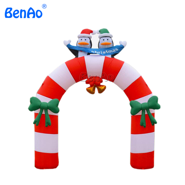 x156 christmas decorations 12 airblown inflatable arch stand with penguin yard art decor - Christmas Arch Decorations