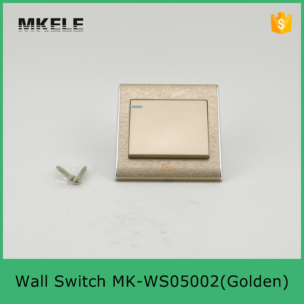 MK WS05002(Golden) Golden colored 1 gang 2 way wall switch,electric ...