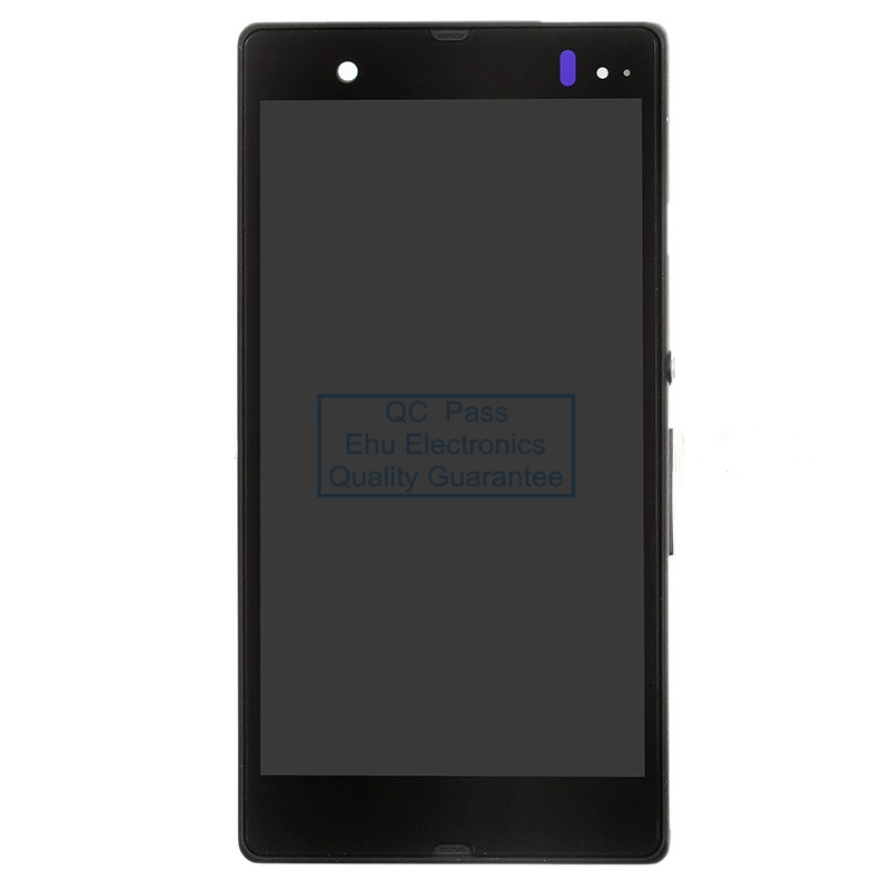ФОТО New LCD screen and digitizer assembly with front housing replacement for Sony Xperia Z L36h Black
