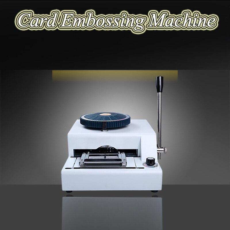 Machine Centre Tools Candid Convex Code Printer Pressure Code Machine Vip Membership Card Typewriter Pvc Manual Embossing Machine 68d Supplement The Vital Energy And Nourish Yin