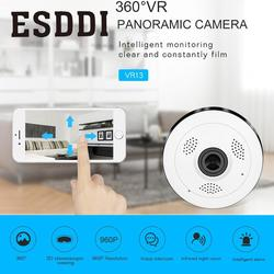 Esddi 960P HD Fisheye Wireless Wi-Fi IP Camera Webcam US Plug IR Panorama Security Professional Home Safety Consumer Camcorders