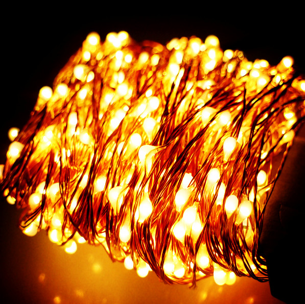 Wholesale100pcs 10M 100 LED Battery Powered String Fairy Patio Light For  Chirstmas Garden Wedding Party Accessories