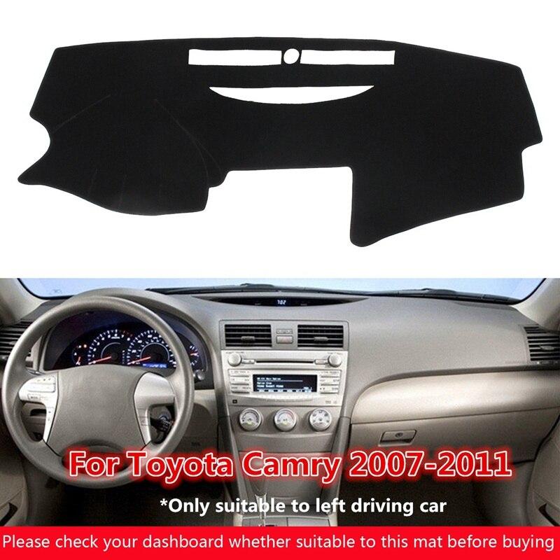 Autoleader 1 шт. Черный приборной панели крышки тире мат Pad для Toyota Camry 2007-2011 для левой вождения козырек от солнца приборная панель ковер