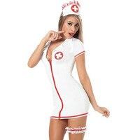 2017 New Sexy Uniform Temptation Role Playing Nurse Uniforms Contains Adult Leotard a Uniform Sex Shop Lingerie White SLG758