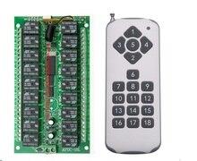 Commutateur à distance de relais de cc 12V 18CH 18 récepteur de relais émetteur à distance de 18 boutons Contact RX TX demandent la lampe de lumière maison intelligente sans fil