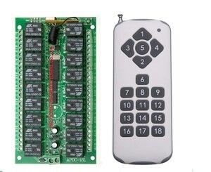 Image 1 - Dc 12 v 18ch relé interruptor remoto 18 receptor de relé 18 botão transmissor remoto contato rx tx pedir luz lâmpada casa inteligente sem fio