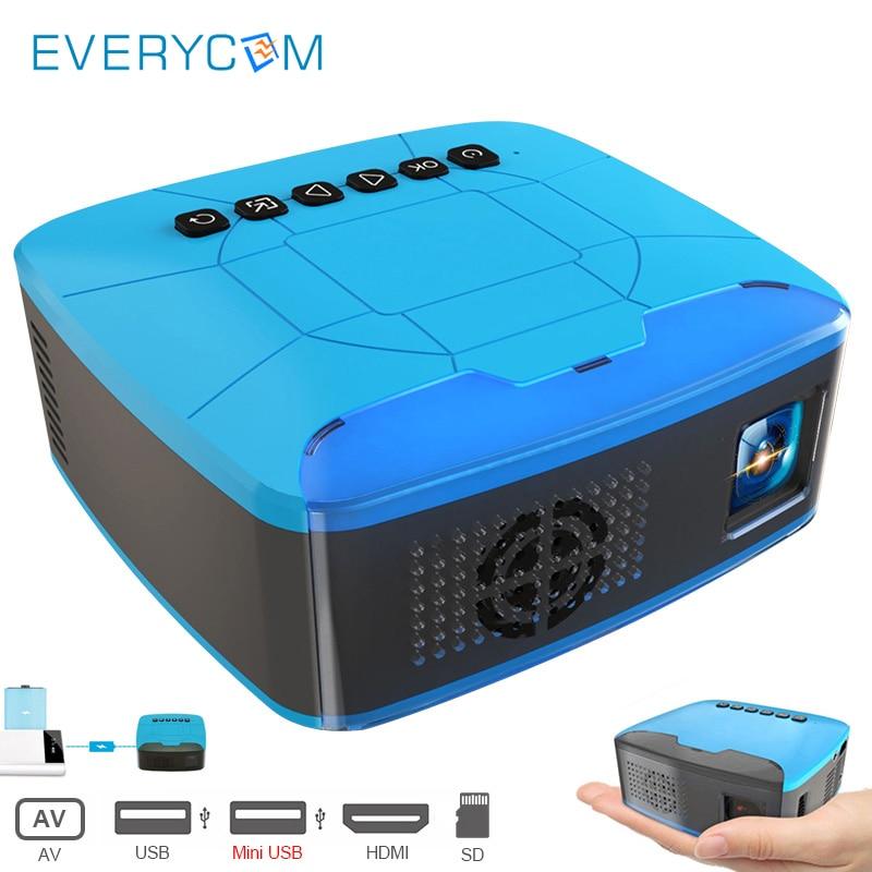 Everycom U20 Mini Projectors USB HDMI AV font b Video b font Portable Projector For Home