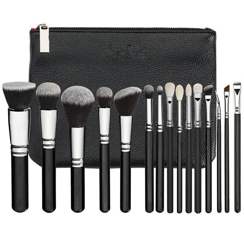Pinsel Set 15 stücke Beste Qualität Professionelle Make-Up Pinsel Set Lidschatten Eyeliner Blending Bleistift Kosmetik Werkzeuge Mit PU