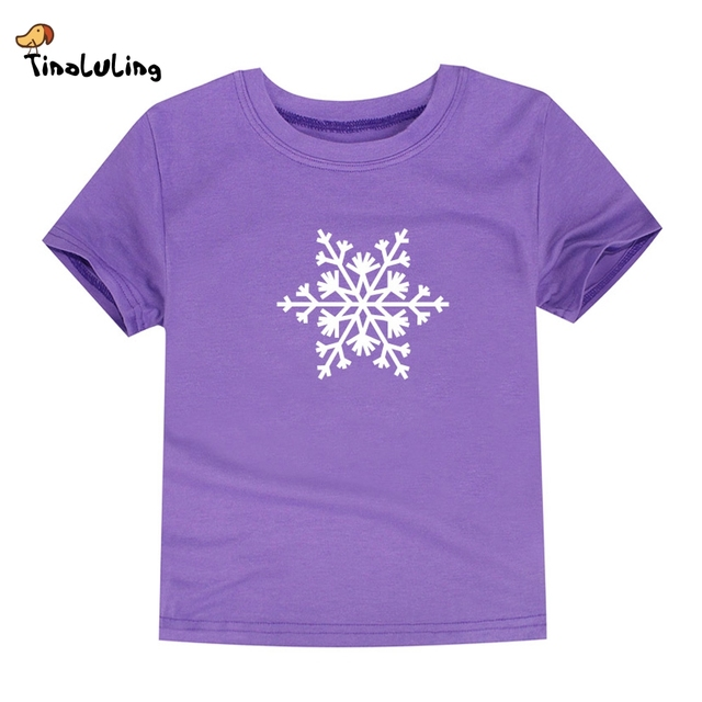 tinoluling 2018 kids summer t shirt boys girls snowflake t shirts children christmas clothing baby - Christmas Shirts For Boys