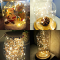 2M 3M 5M 20 30 50 LEDS Battery Powered Decoration LED Copper Wire Fairy String Lights Lamps for Holiday Wedding Party 10 16 feet