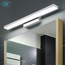 Modern LED Vanity Light L42cm L52cm L62cm L72cm L92cm Modern Cosmetic Acrylic Wall lamp Stainless Steel bathroom mirror lighting