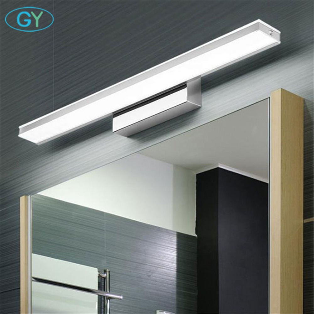 Modern LED Vanity Light L42cm L52cm L62cm L72cm L92cm Modern Cosmetic Acrylic Wall lamp Stainless Steel bathroom mirror lighting