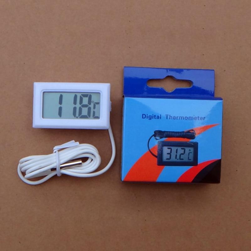 1 Pcs Temperature Measurement LCD Display Thermometer Digital for Aquarium Freezer Black and White Color  цены