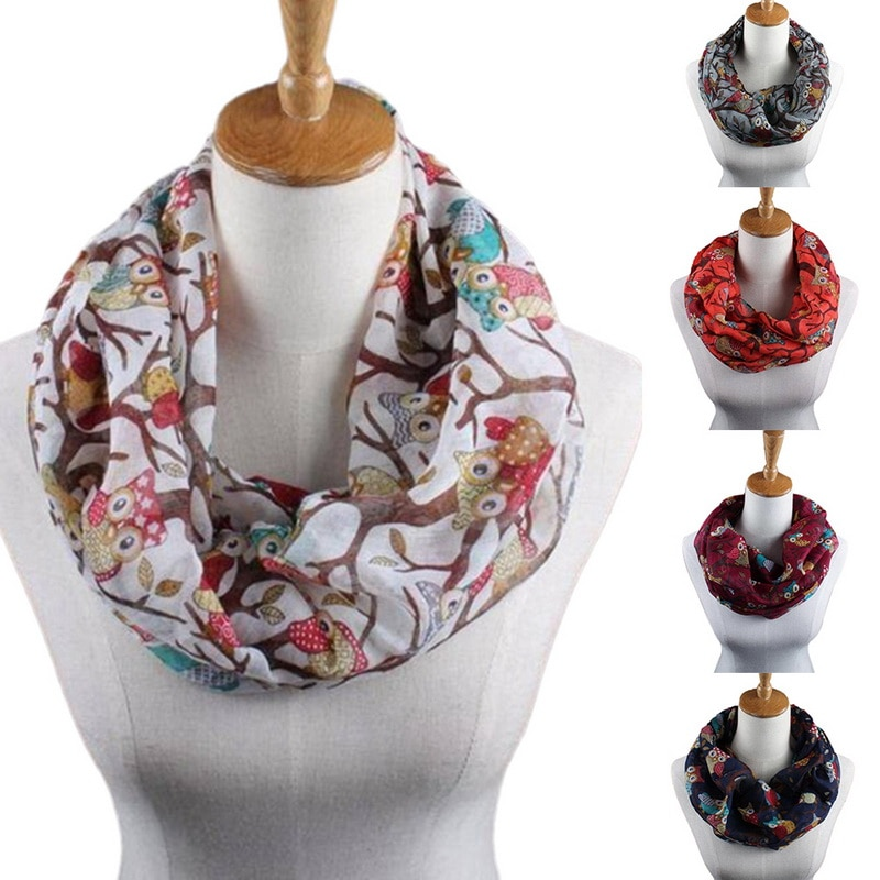 LASPERAL Warm   Wrap   Shawl Fashion Long   Scarf   Lady Head   Scarves     Wrap   Accessories   Scarves   Women 2018 Women Owl Pattern Print   Scarf
