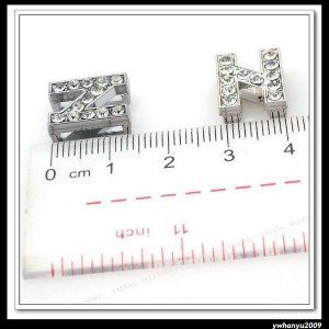 Promotion Wholesale 30pcs/lot Letter N Italian Charms bead Fit 10mm Belt Bracelets 160099