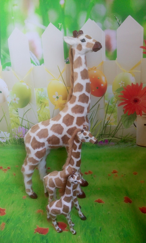 simulation giraffe Handmade craft model ,polyethylene&furs giraffe toy ,teaching prop. home decoration Xmas gift w4137